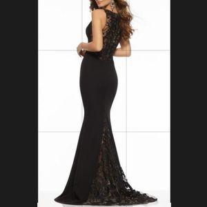 Sale!!  Jersey w Beaded Lace on Net Insets #43088